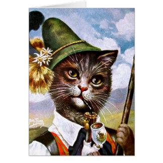 Cartão Arthur Thiele - gato bávaro dos cumes