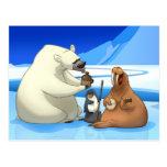 Cartão ártico da banda de jarro cartões postais