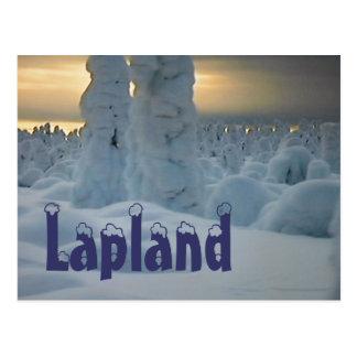 Cartão ártico do inverno de Lapland