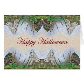 Cartão Artigos da cigarra do Dia das Bruxas