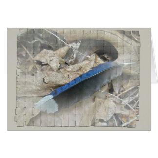 Cartão Artigos de coordenação da pena de Jay azul