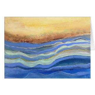 Cartão Artigos de papelaria abstratos da praia, vazio