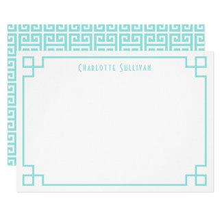 Cartão Artigos de papelaria personalizados do Aqua beira