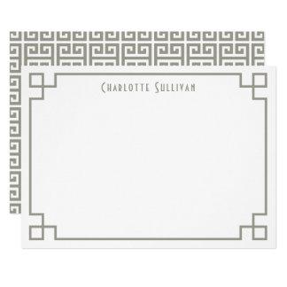 Cartão Artigos de papelaria personalizados do Taupe beira