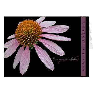 Cartão Artigos dos parabéns do princípio de Coneflower
