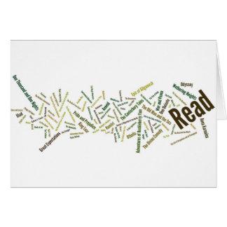 Cartão Artigos para leitores sérios!
