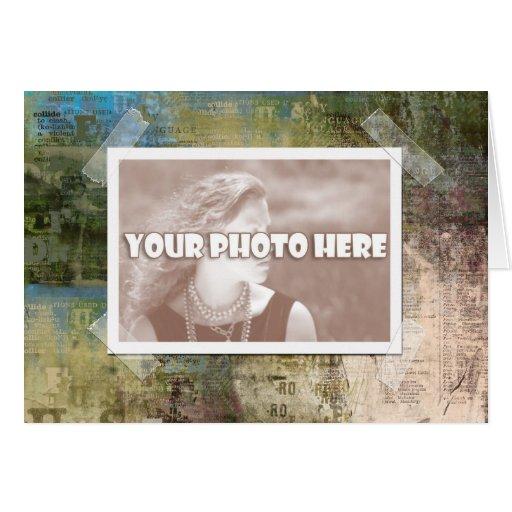 Cartão artística do quadro da foto