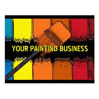 Cartão artístico da referência do negócio da cartão postal