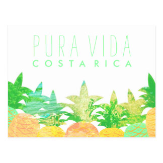 Cartão artístico de Costa Rica Pura Vida do Cartão Postal