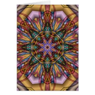 Cartão artístico do caleidoscópio sem texto