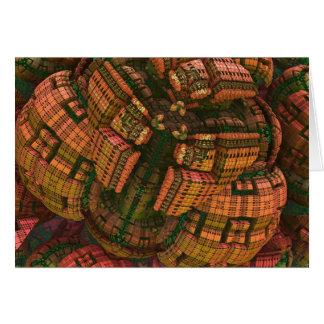 Cartão artístico do fractal 3d