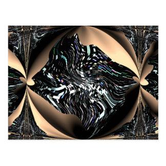 Cartão artístico dos peixes do anjo