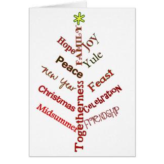 Cartão Árvore #5 da palavra