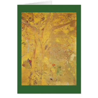 Cartão Árvore amarela por Odilon Redon