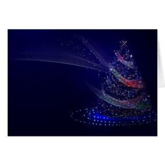 Cartão Árvore azul bonita