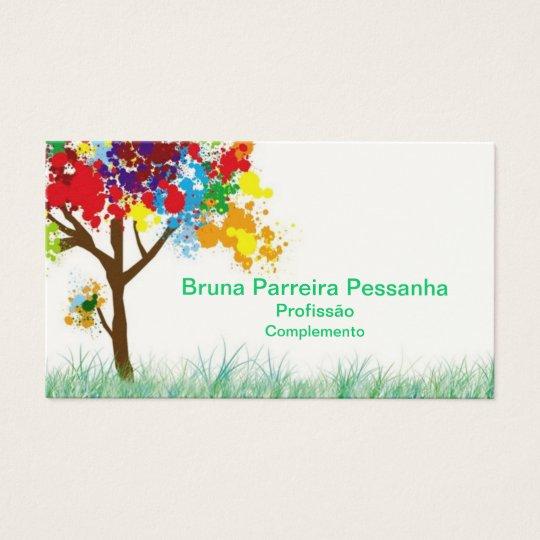 Cartão árvore colorida