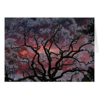 Cartão Árvore cósmica - centro da Via Láctea