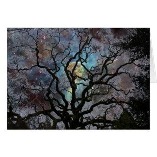 Cartão Árvore cósmica - nebulosa do buraco da fechadura