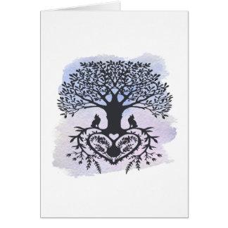 Cartão Árvore da arte popular de vida