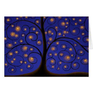 Cartão Árvore da luz
