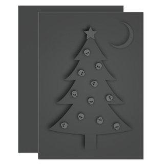 Cartão Árvore da sombra do Natal