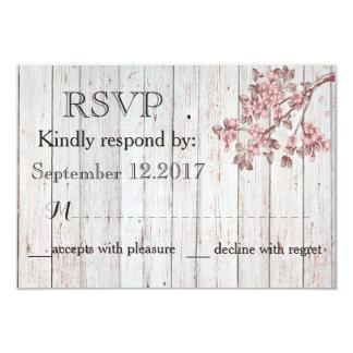 Cartão Árvore de cereja de madeira rústica do vintage que
