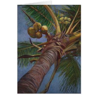 Cartão Árvore de coco
