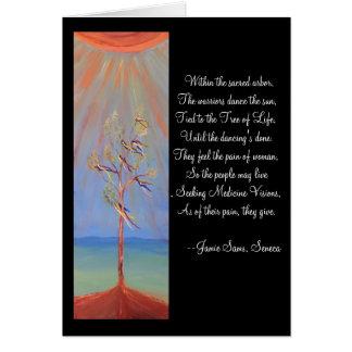 Cartão Árvore de dança de Sun do nativo americano de vida