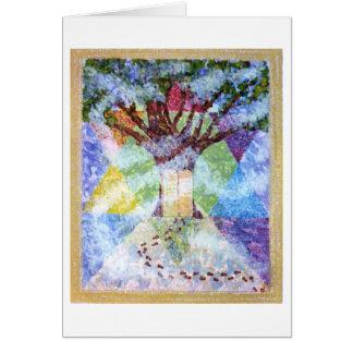 Cartão Árvore de dez mandamentos de vida