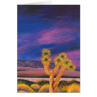 Cartão Árvore de Joshua no crepúsculo