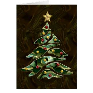 Cartão Árvore de Natal Bejeweled