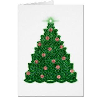Cartão Árvore de Natal celta