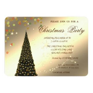 Cartão Árvore de Natal, confete, festa de Natal