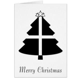 Cartão Árvore de Natal Cornish da bandeira