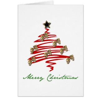 Cartão Árvore de Natal da máscara do drama