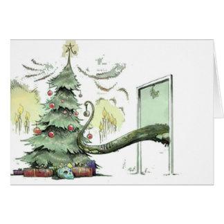 Cartão Árvore de Natal de Cthulhu