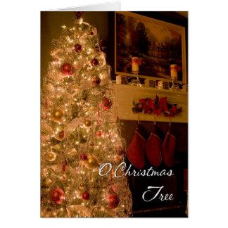 Cartão Árvore de Natal de O