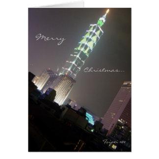 Cartão Árvore de Natal de Taipei 101