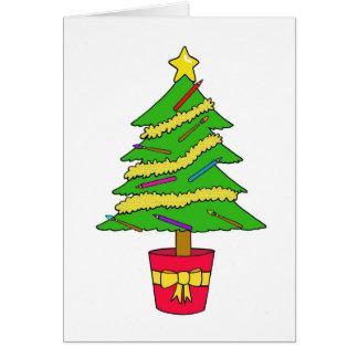 Cartão Árvore de Natal do artista