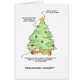 Cartão Árvore de Natal do desenhista