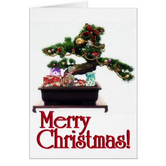 Cartão Árvore de Natal dos bonsais
