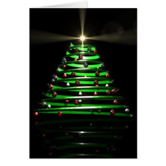 Cartão Árvore de Natal estilizado