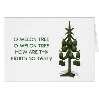 Cartão Árvore de Natal estranha das melancias