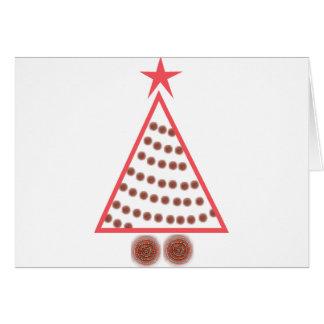Cartão Árvore de Natal frisada