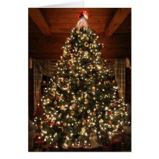 Cartão Árvore de Natal iluminada Card2