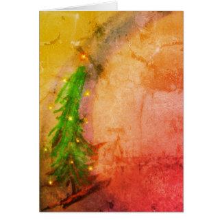 Cartão Árvore de Natal mágica Joyeux Noel