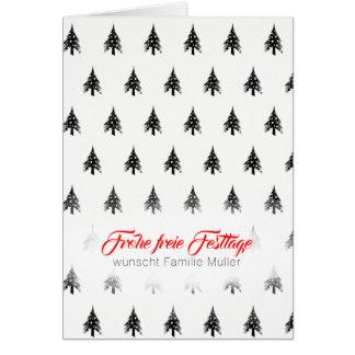 Cartão Árvore de Natal mínima