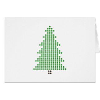 Cartão Árvore de Natal minimalista do estilo do ponto do