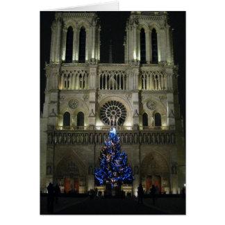 Cartão Árvore de Natal Notre Dame
