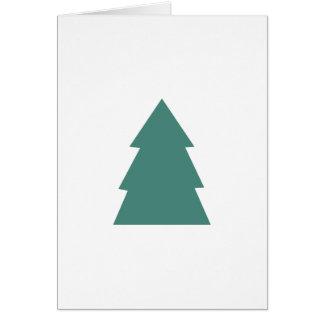 Cartão Árvore de Natal simples